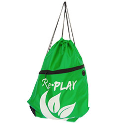 700341 - POLY DRAWSTRING BAG W/ ZIPPER