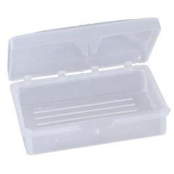 714050 - Hinged Soap Dish fits up to 3 oz. bar (clear)