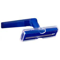 810168 - Twin Blade Razor (navy handle) Bulk Packed 144