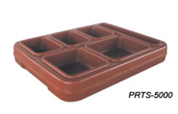 JonesZylon Insulated Meal Serving Tray 5 Compartment