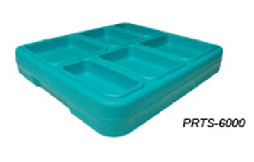JonesZylon Insulated Meal Serving Tray 6 Compartment