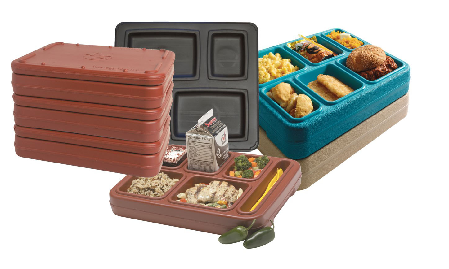 JonesZylon Insulated Trays Stacking Compartment Trays With Interior Filled With Foam Insulation